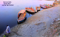 Boats on the Ganga River - India